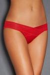 Culotte ouverte rouge