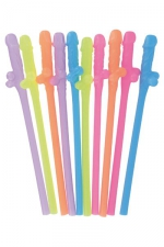 Paquet pailles zizi : 10 pailles Zizi aussi coquines qu'humoristiques pour déguster un rafraichissement des plus sirupeux.