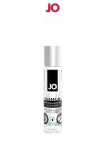 Lubrifiant premium silicone effet frais 30 ml : Le lubrifiant intime Jo Premium est fabriqué à base de silicone, il est doux et soyeux et, résiste à l'eau. Effet frais, 30ml.