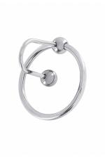 Bouchon d'urètre Sperm Stopper : Bouchon d'urètre et anneau de gland haute qualité, en acier inoxydable, pour amateurs de sensations fortes.